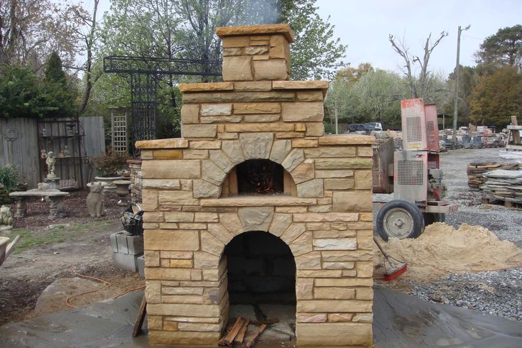 Fireplaces And Masonry Ovens Mcgraw Hardscapes Outdoor Fireplace With Pizza Oven Outdoor