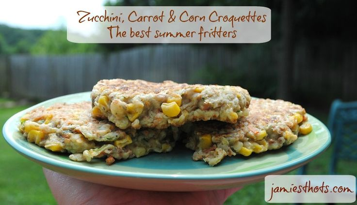 Zucchini corn carrot croquettes (fritters)