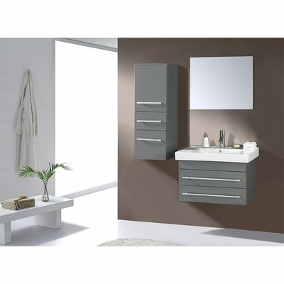 """28"""" Antonio Grey Single Sink Bathroom Vanity ..."""