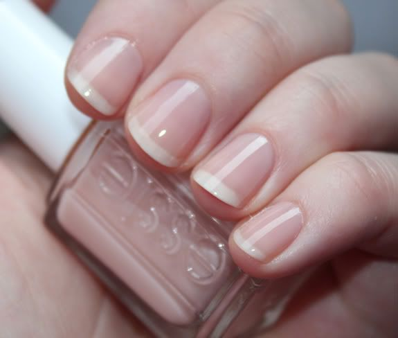 Bare, Natural Nails With Shine. (Essie Sugar Daddy Shown