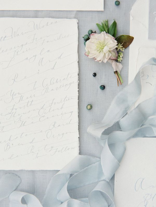 white and blue stationery