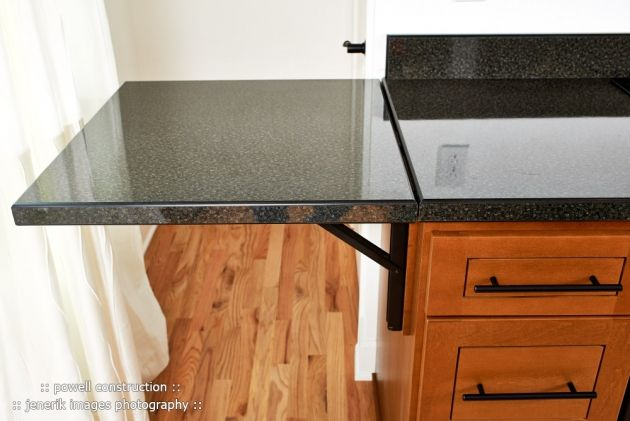 Concept image for fold down counter attached to bar.