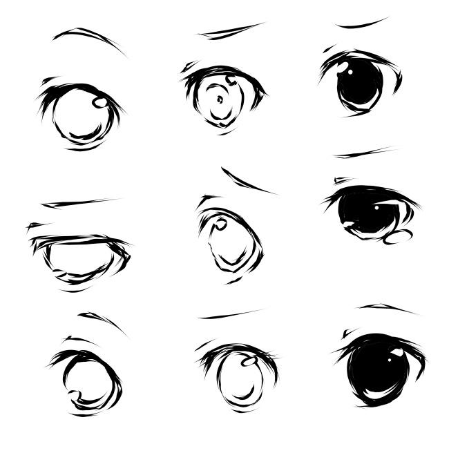Anime Characters Eyes : De bedste billeder fra character anatomy eyes på