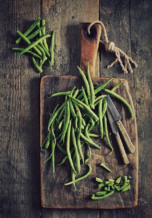 green beans... ate them with basil and white balsamic vinaigrette in bed last night.  #betterthancorn
