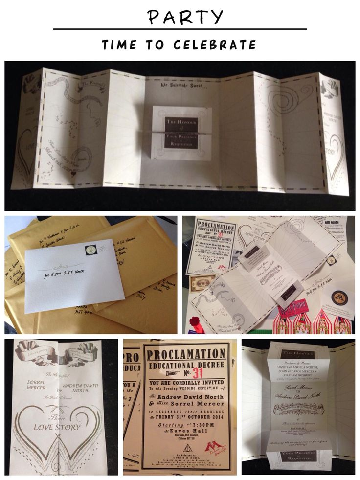 Invitations and Owl Mail from Sorrel & Andy's Harry Potter Wedding. Sorrel owns and runs Ambience Venue Styling North  Lancashire.