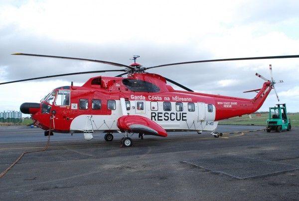 Irish Coast Guard Sea King. Le moins que l'on puisse dire c'est que ce Sea King des gardes-côtes irlandais se voit de loin.