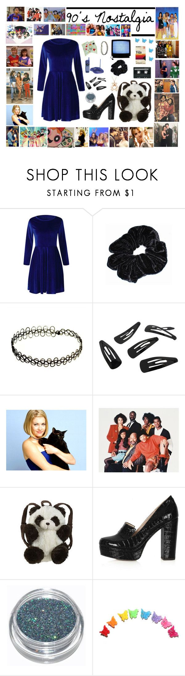 """""""90s Nostalgia"""" by sparkle1277 ❤ liked on Polyvore featuring INDIE HAIR, Ultimate, Topanga, Mariah Carey, CASSETTE, Forum, Panda, Topshop, GAS Jeans and Allurez"""