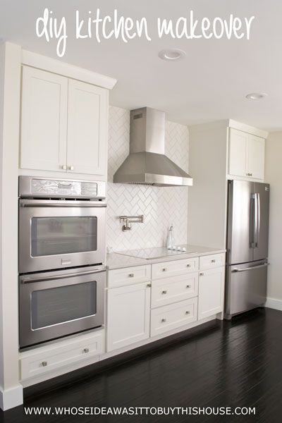 """Check out the """"before"""" and """"after"""" of this DIY kitchen renovation. You won't believe it's the same kitchen!"""