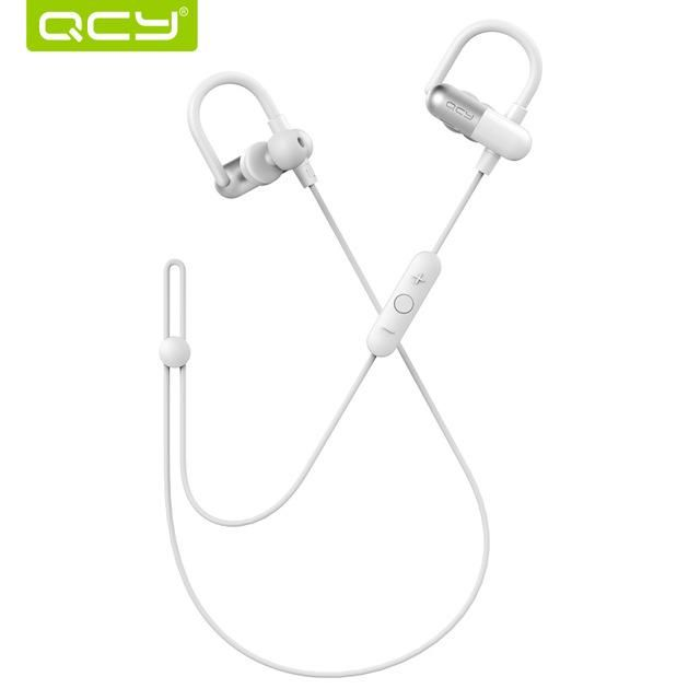QCY QY11 Limited edition off white ear hook sports headphones Bluetooth 4.1 wireless headsets 3D stereo headphones for phones