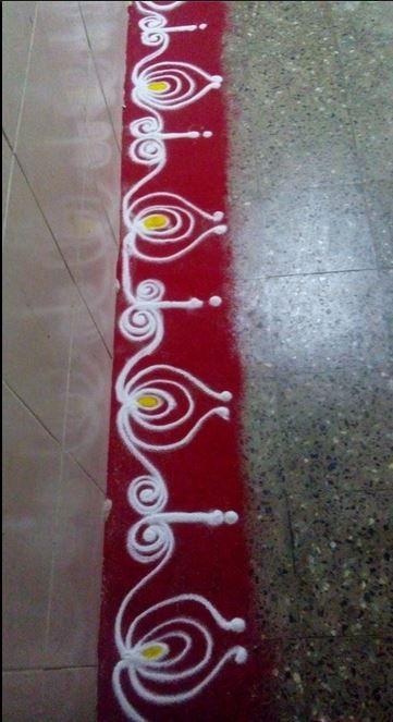 Simple Border Rangoli Designs