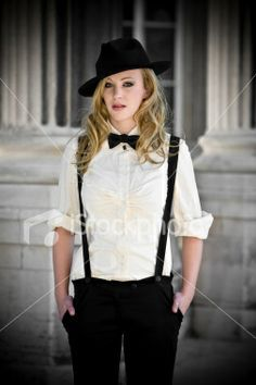 suspenders out fits | Although it's unisex trend there are more men than women wearing them.