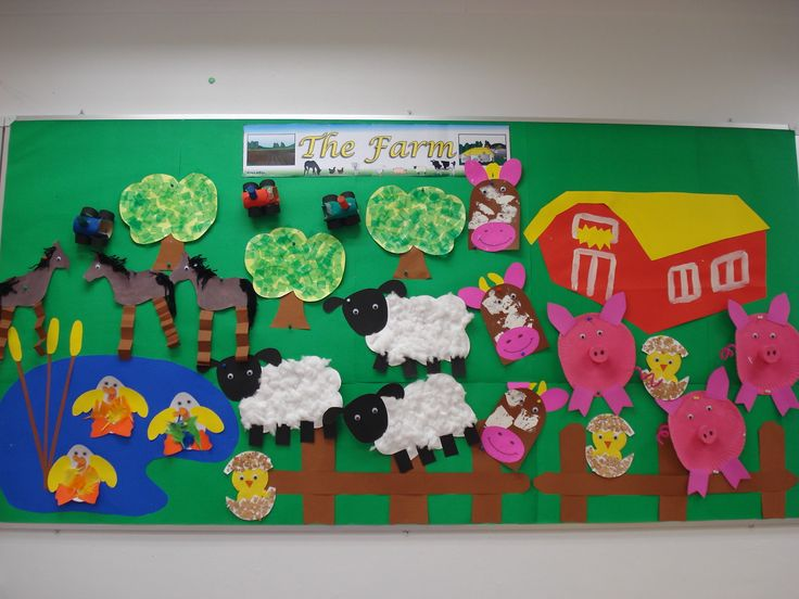 "My Pre-K ""Down on the Farm"" display wall."