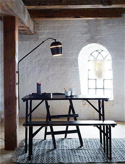 Great Wandlampe von MADAM STOLTZ aus Metall sehr dekorativ Wandleuchte mattschwarz Lampe