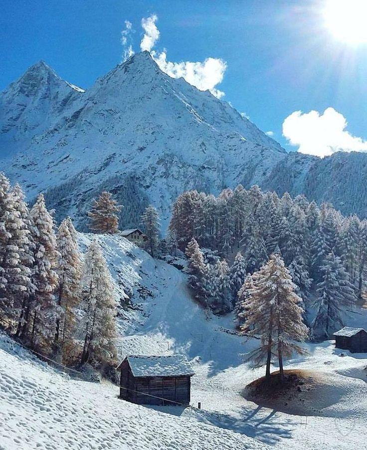 Beautiful morning in Switzerland