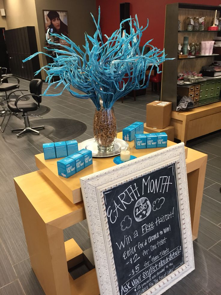 Earth Month 2015 Aveda Display by Nicholas J Salon & Spa of South Bend, IN