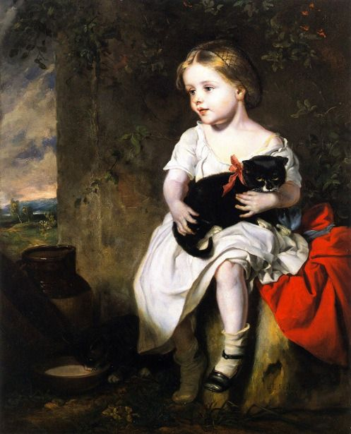 """The Pet"" -- John Thomas Peele (1822 – 1897) American"