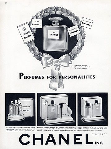 Chanel (Perfumes) 1940 Glamour, Gardenia, Russia Leather, N°5, N°22