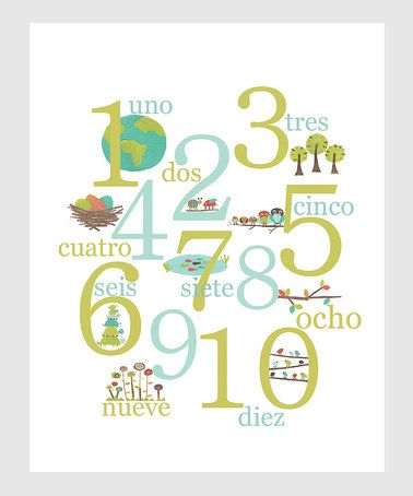 Take a look at this Spanish Numbers Posters by Children Inspire Design on #zulily today! $18 !!