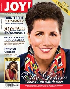 """Cover story on our 2012 speaker, Ellie Lofaro """"Woman of Wit and Wisdom"""" in the May 2012 issue of JOY! magazine. Article written by Jackie Georgiou. https://www.beautyforashes.co.za/sites/default/files/media/print/Ellie_0.pdf"""