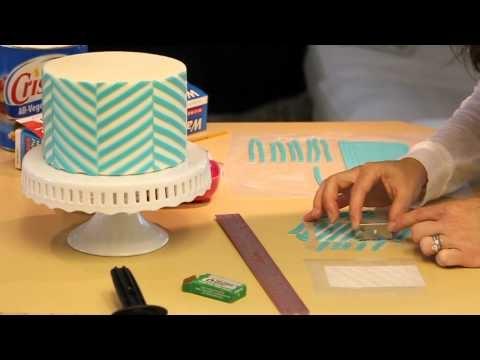 How to make a chevron cake - fondant transfer technique