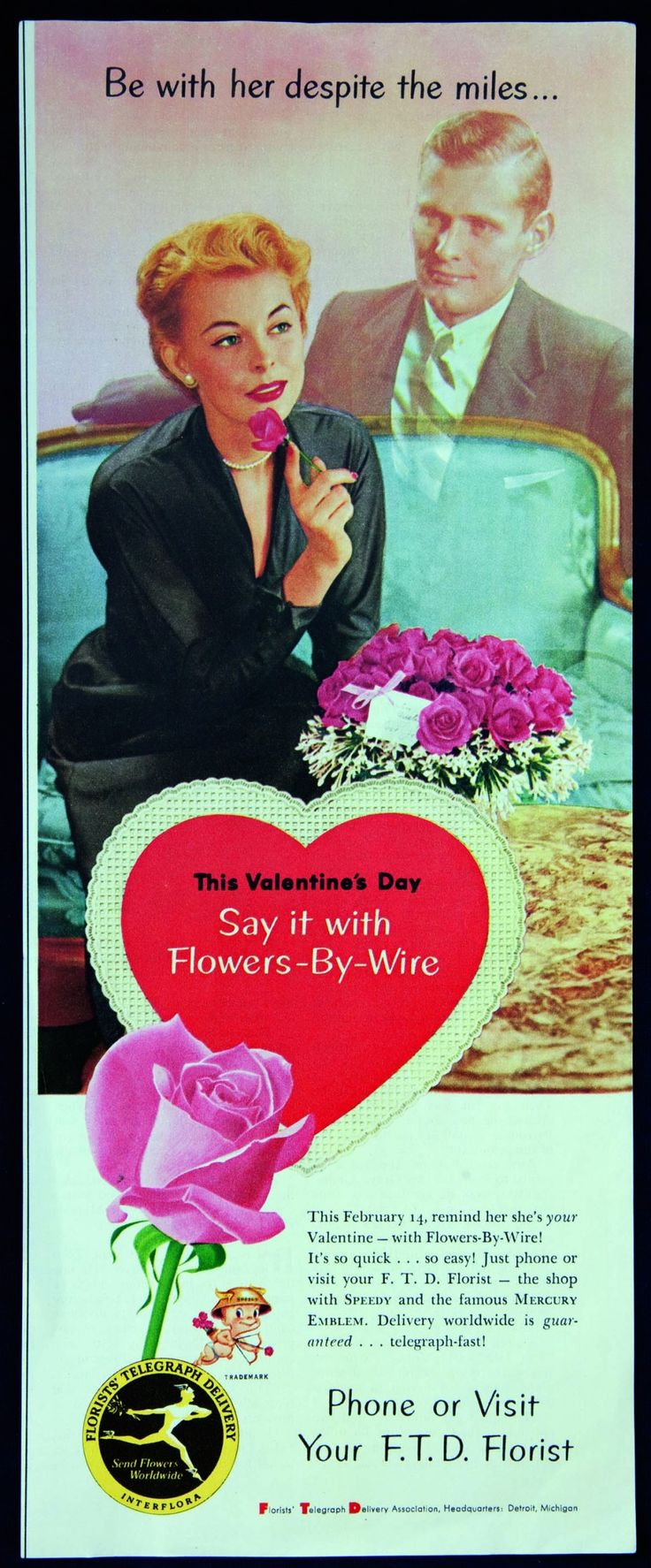 Vintage Valentine's Day Ad from the 1950s - Fresh by FTD