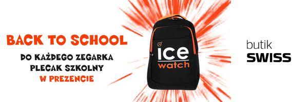 Kup dowolny zegarek Ice-Watch w butiku SWISS i odbierz wspaniały, szkolny plecak!