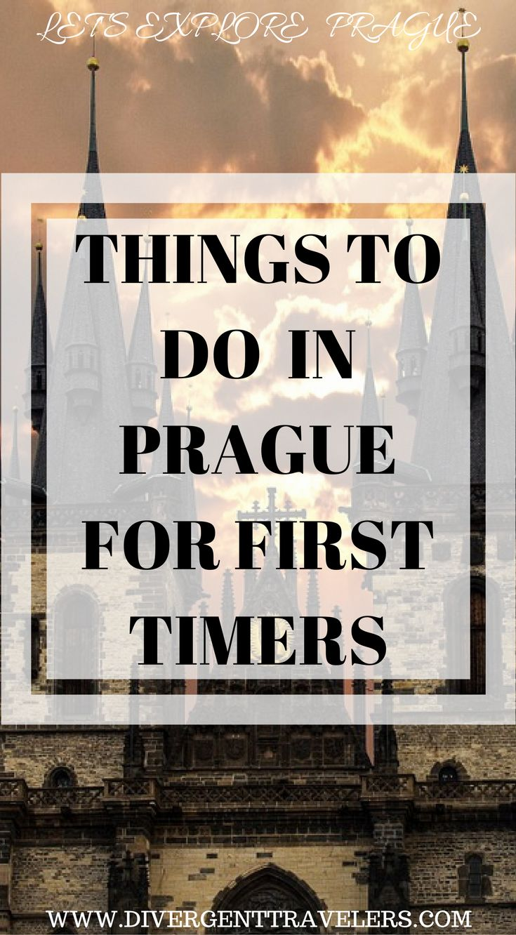 Things to do in Prague for first timers. First timevisitors toPraguemay have an overwhelming time researching before their travel. There's so many things that you can do and see inPrague. We have put together a 3 day Prague Itinerary guide for first time travelers. Click to read.