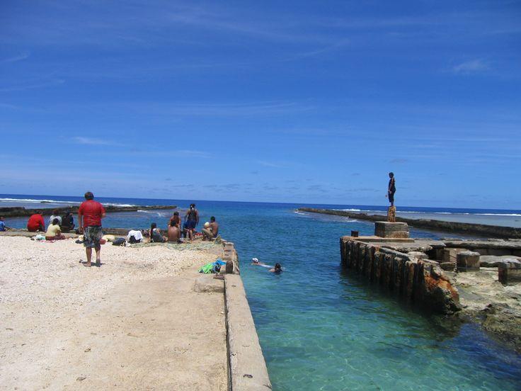 The harbor at Mangaia