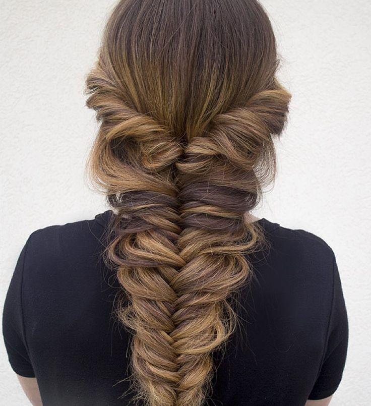 nice 50 Идей, как плести косу рыбий хвост — Пошаговая инструкция, фото