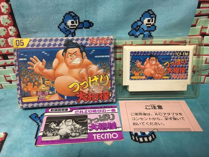 Tsuppari Oozumou Famicom Japan NTSC-J Nintendo Squaresoft boxed set Tecmo