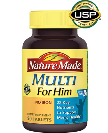 Nature Made Multi For Him is specially formulated with 22 key nutrients to address the specific health needs of men.
