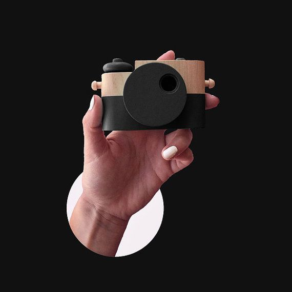 Black Pixie  Wooden Toy Camera by TheTwigCo on Etsy