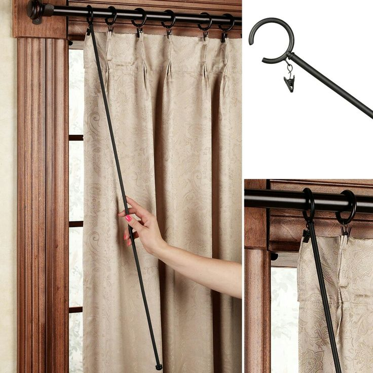 Curtain Wand Pull In 2019 Unique Curtains Curtain Rod