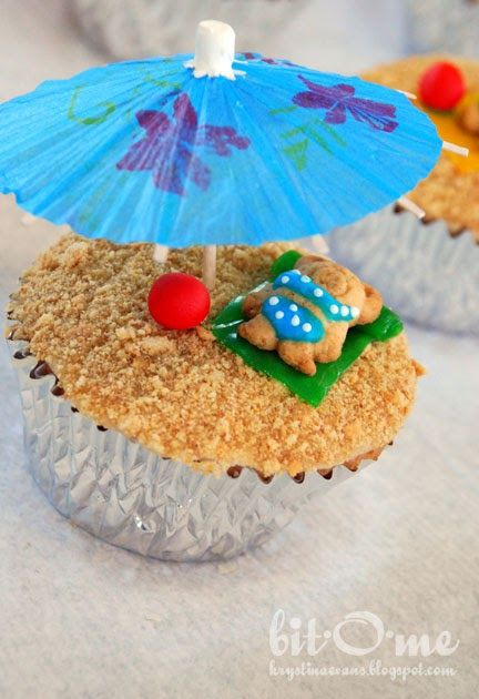 Bit-O-Me: Swimming Party {Cutest Cupcakes!}