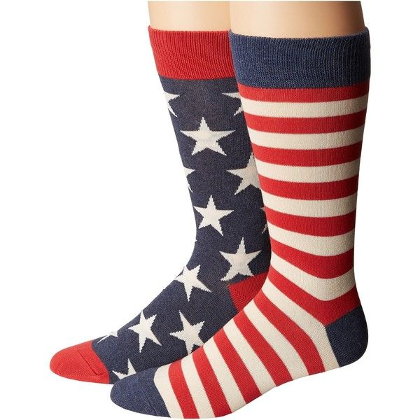 Socksmith Flag (Vintage Blue 1) Men's Crew Cut Socks ($7.99) ❤ liked on Polyvore featuring men's fashion, men's clothing, men's socks, mens navy blue crew socks, mens blue socks, mens crew socks, mens striped socks and mens socks