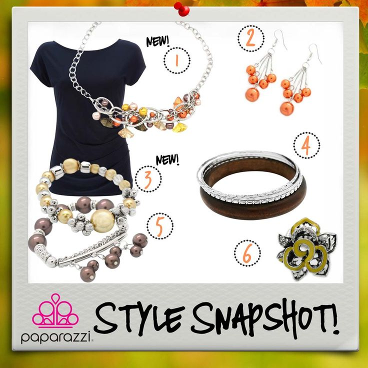 { Style Snapshot } The warm harvest tones of this new Citrus necklace are a perfect match for the browns and yellows of the fall palette. Happy pairing!