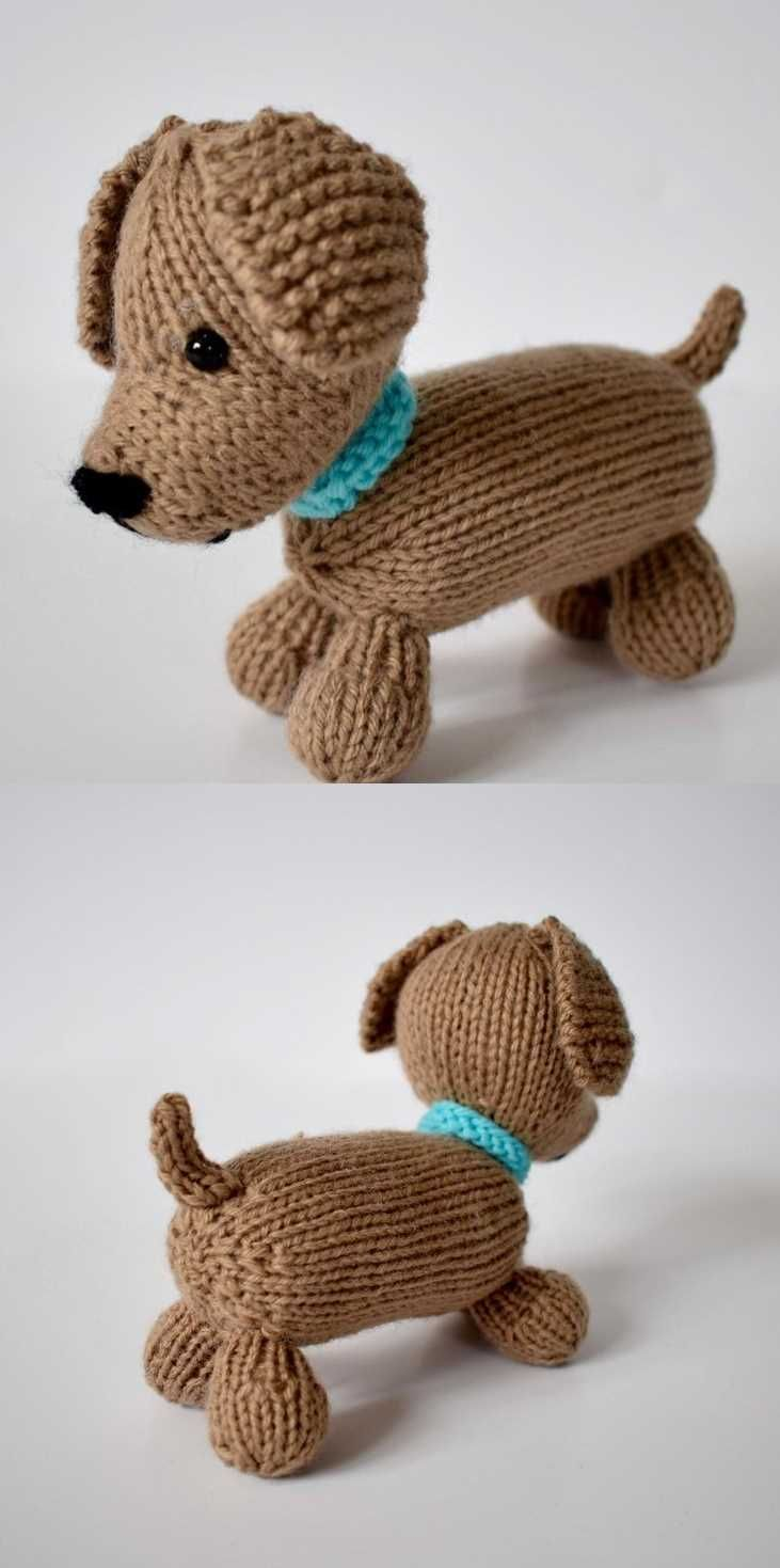 Free Knitting Pattern for a Loyal Puppy | Animal knitting ...