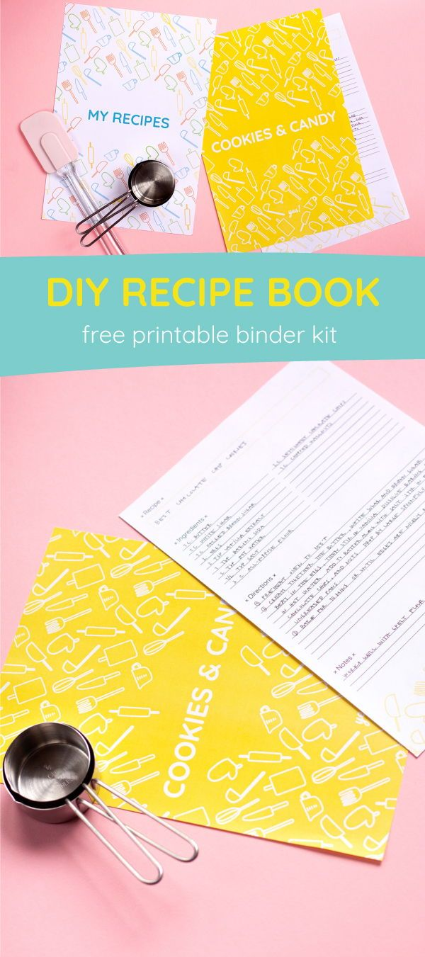 photo about Free Printable Recipe Binder Kit referred to as Do-it-yourself Recipe Reserve with a Totally free Recipe Binder Printable - indeed