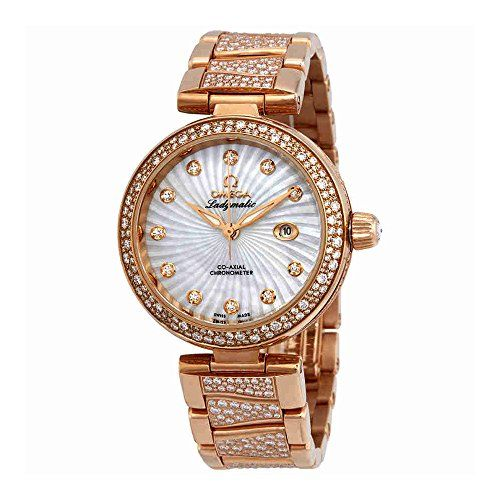 Omega De Ville Ladymatic Automatic Mother of Pearl Dial Ladies Watch 42565342055...