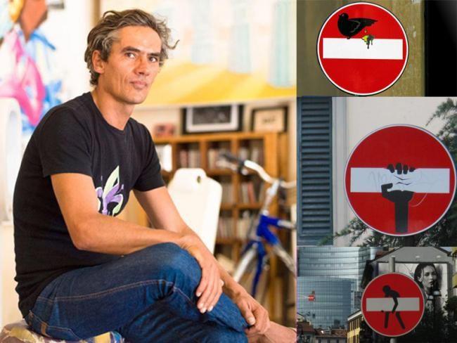 I segnali stradali dello street artist francese Clet in mostra a Castiglione Del Lago fino al 15 settembre