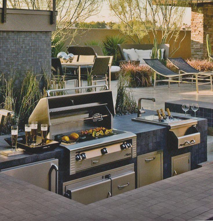 Outdoor-Küche im Freien