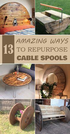 13 Amazing Ways to Repurpose Cable Spools