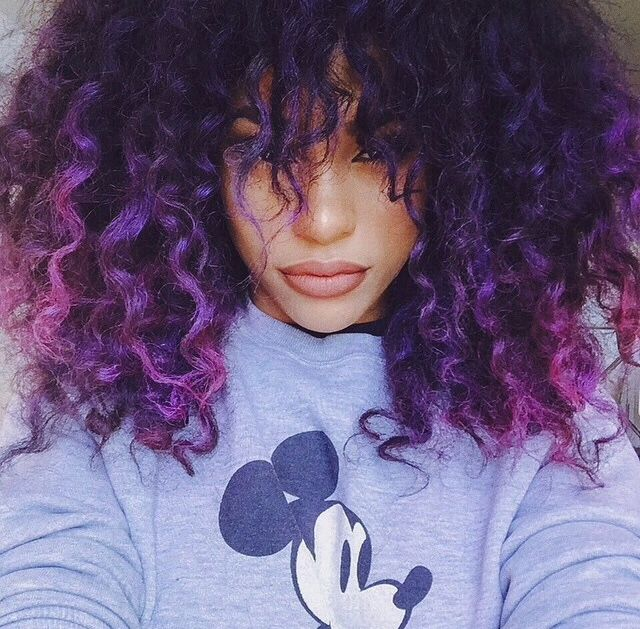Ombre Hair Coloring Ideas For Natural Hair Curly Hair: Best 25+ Purple Tips Ideas Only On Pinterest