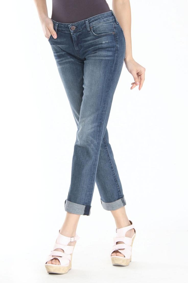 David Kahn Marla Straight Leg Jeans In Moon Zappa