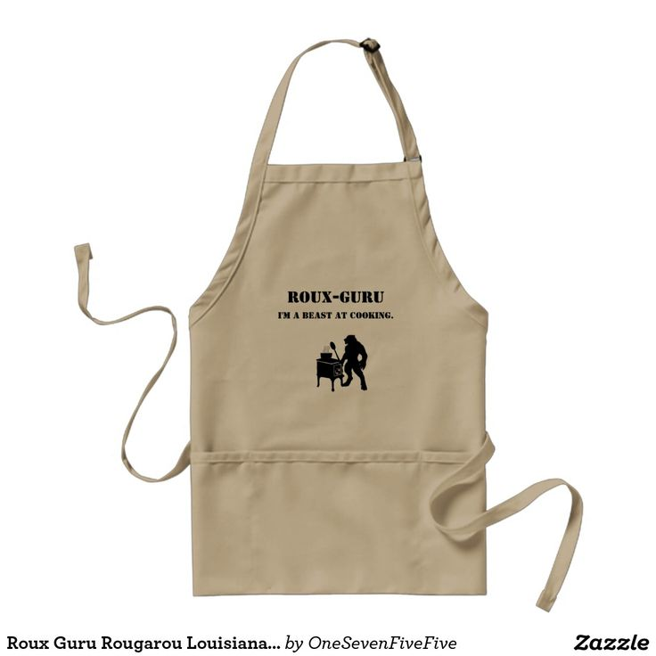 "Roux Guru Rougarou Louisiana Cajun Humor Apron Apron reads ""Roux-Guru: I'm a beast at cooking"" and features a beastly monster cooking up a storm! Available in several colors and styles."