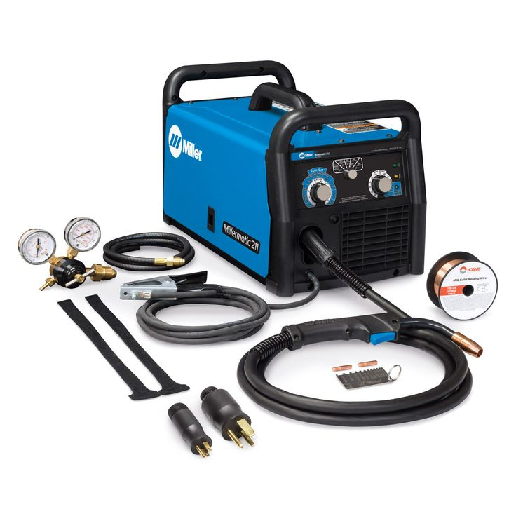Airgas - MIL907614 - Miller® Millermatic® 211 MIG Welder, 120V- 240V 230 Amp Flux Cored (FCAW) MIG (GMAW) Single