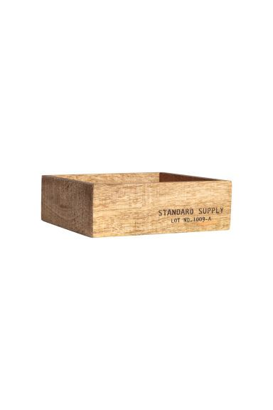 Small wooden tray - Natural - Home All   H&M CA
