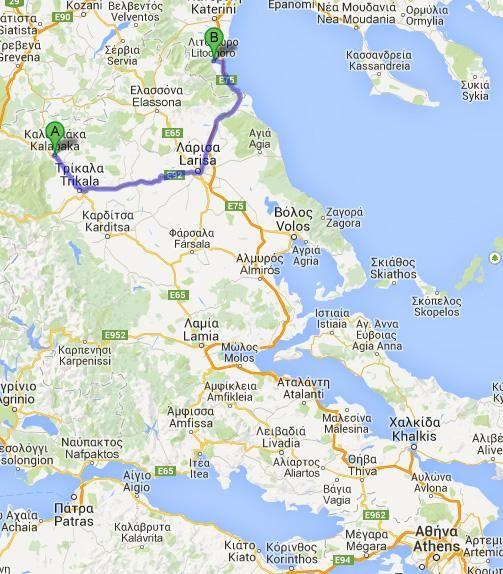 Grecia en 20 días: Día 16  De Kalambaka a Litohoro y excursión desastrosa al Monte Olimpo.