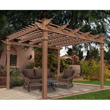 Features:  -Includes screws, other necessary hardware and detailed instructions.  -Pergola.  -Stainless steel white powder coated screws.  -For a deck or patio installation the manufacturer highly rec