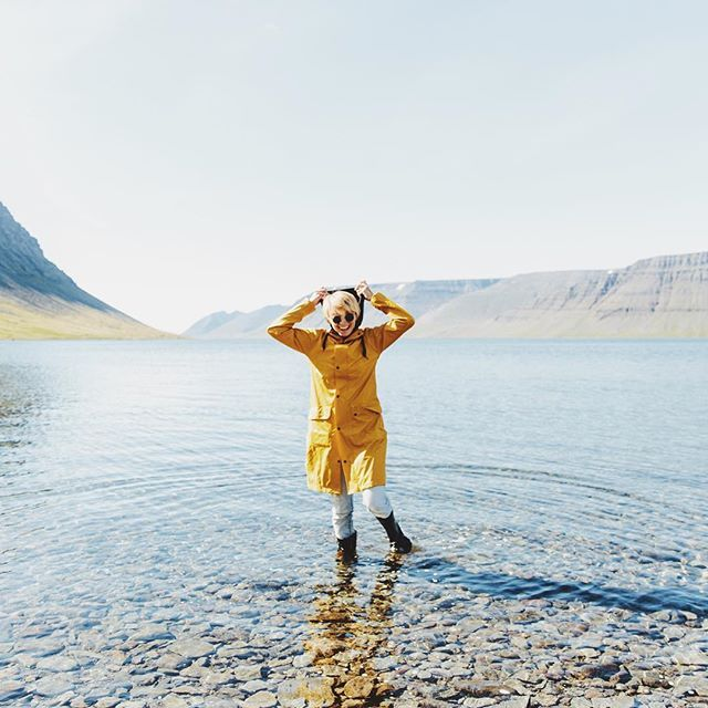 I managed to keep my cool until I found myself a giant puddle. #iceland…